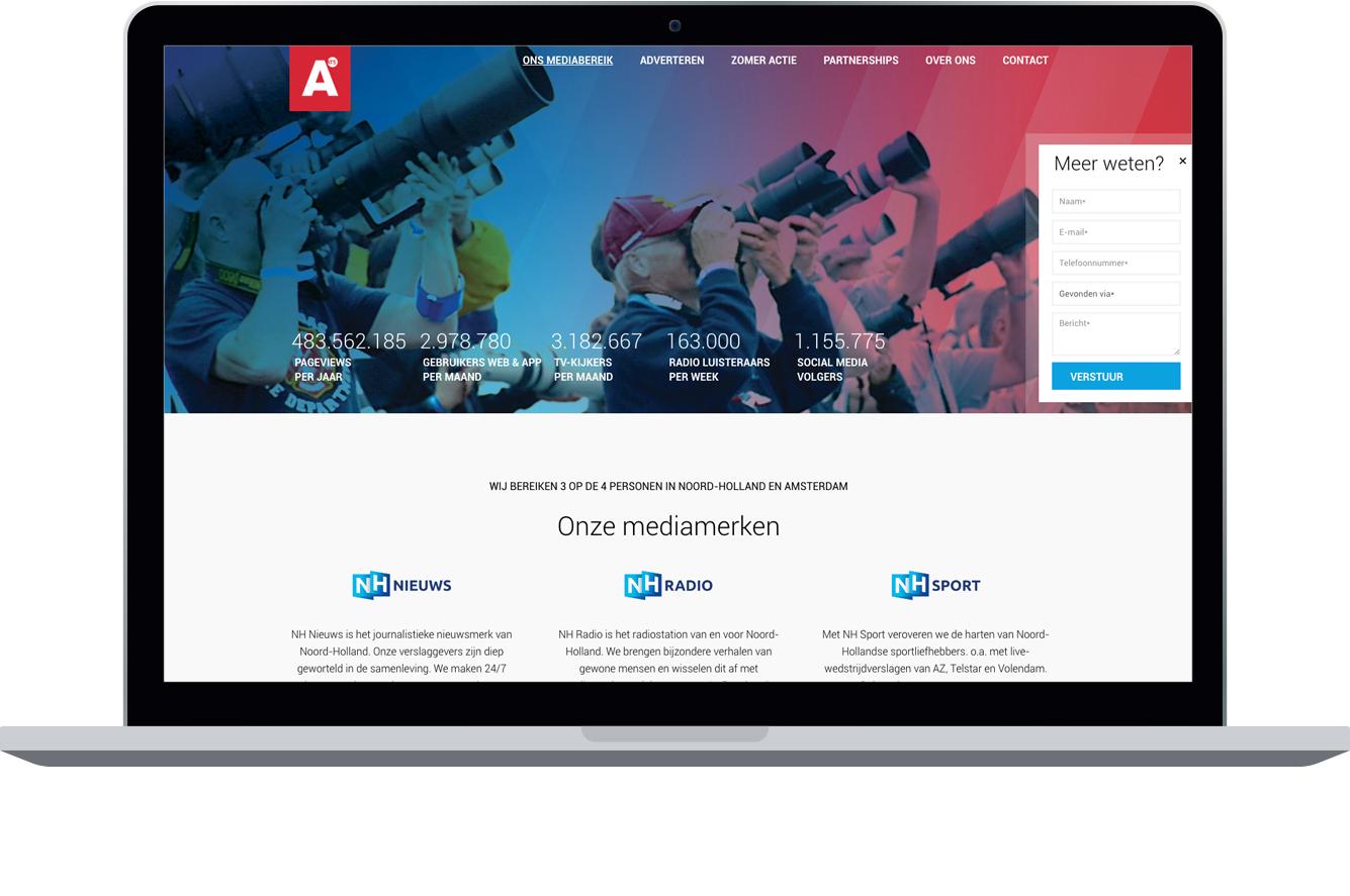 NH Media en AT5 nieuwe website